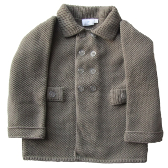 grey retro coat