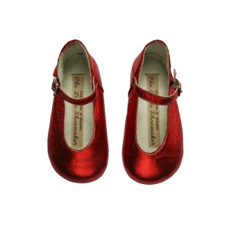 Metalic Poppy Red Mary Jane 300dpi